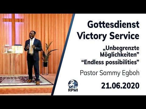 """RPMI-Gottesdienst - Livestream vom 21.06.2020 - Pastor Sammy Egboh """"Unbegrenzte Möglichkeiten"""""""