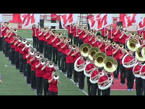 Cornhusker Marching Band Exhibition Performance - 2017