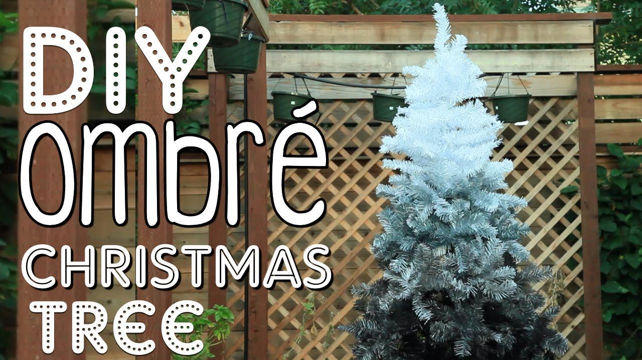 Masculine Christmas Tree diy ombré christmas tree   christmas room decor diy! - youtube
