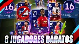 6 JUGADORES BARATOS PARA DESBLOQUEAR LA MISIÓN DE 50 Pts CHAMPIONS LEAGUE - FIFA MOBILE 19