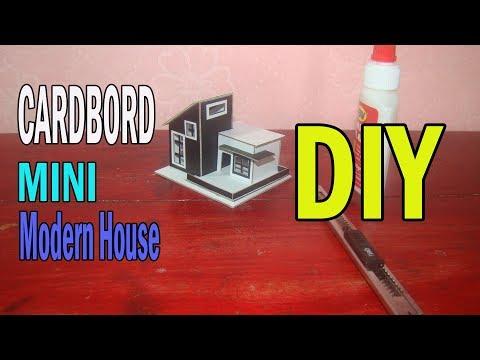 How To Make Mini Cardboard Modern House | DIY Mini Cardboard House Tutorial  Step By Step