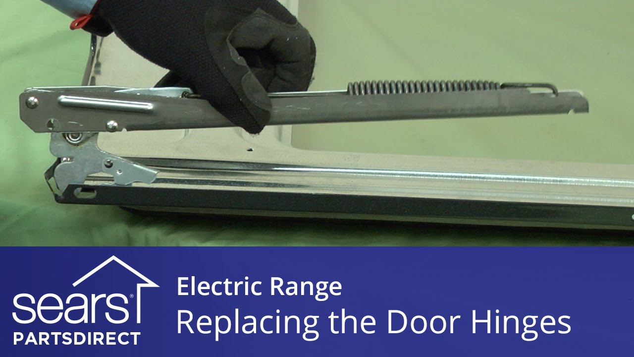 How To Replace Oven Door Hinges On An Electric Range