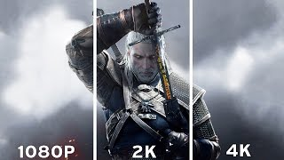 The Witcher 3: Wild Hunt - 1080p vs 2K vs 4K Graphics Comparison 4K