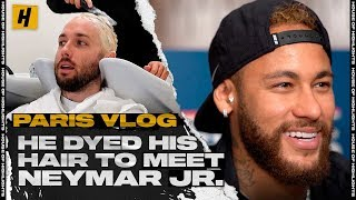 HE DYED HIS HAIR TO MEET NEYMAR JR!! | HOH PARIS VLOG