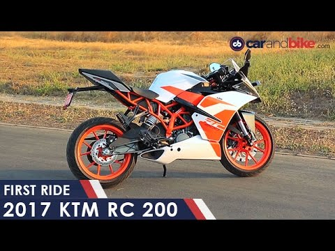 2018 ktm rc 200. perfect 2018 2017 ktm rc 200 first ride  ndtv carandbike to 2018 ktm rc r