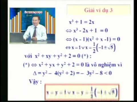 Ôn thi Đại học: Hệ phương trình đại số