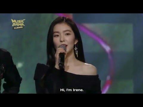 Red Velvet Irene Speaking Bahasa Indonesia @Music Bank In Jakarta
