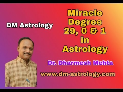 Miracle Degree 29, 0 & 1 in Vedic Astrology by Dr Dharmesh