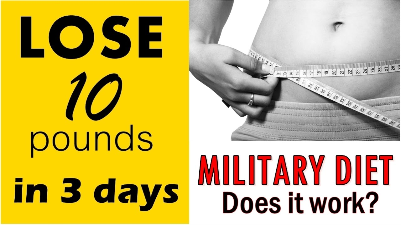 How to lose 10 pounds in 3 days | Military Diet | Does it ...