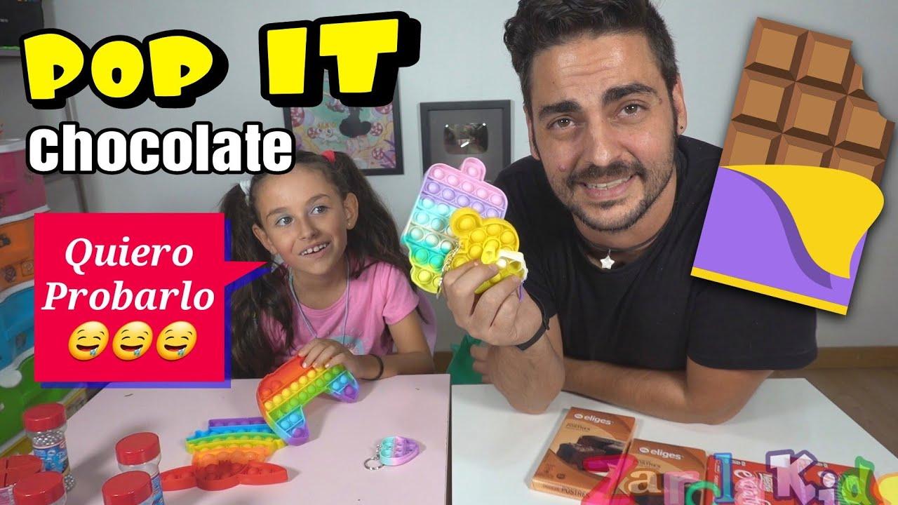 POP IT DE CHOCOLATE !! CON POP IT DE COLORES CHOCOLATE Y LACASITOS