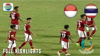 Indonesia (1) vs (1) Thailand - Full Highlights | AFF U-16 Championship 2018