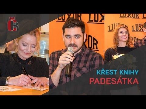 Křest knihy Padesátka - Vojta Kotek, Vilma Cibulková, Hana Vagnerová
