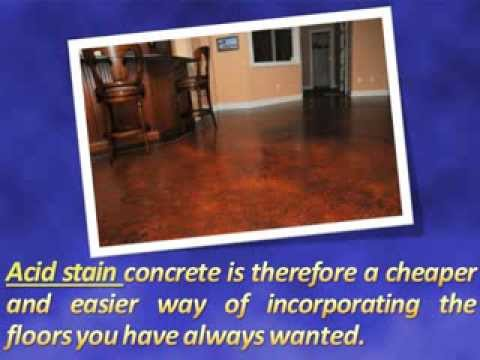 How Much Does Acid Stain Concrete Cost