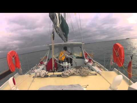 Cruising Yacht Koru, Azores to France, Arriving at Cherbourg.