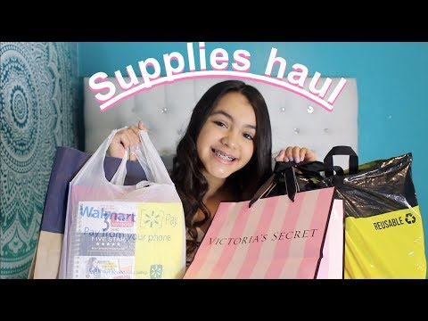 back to school supplies haul 2018 !!