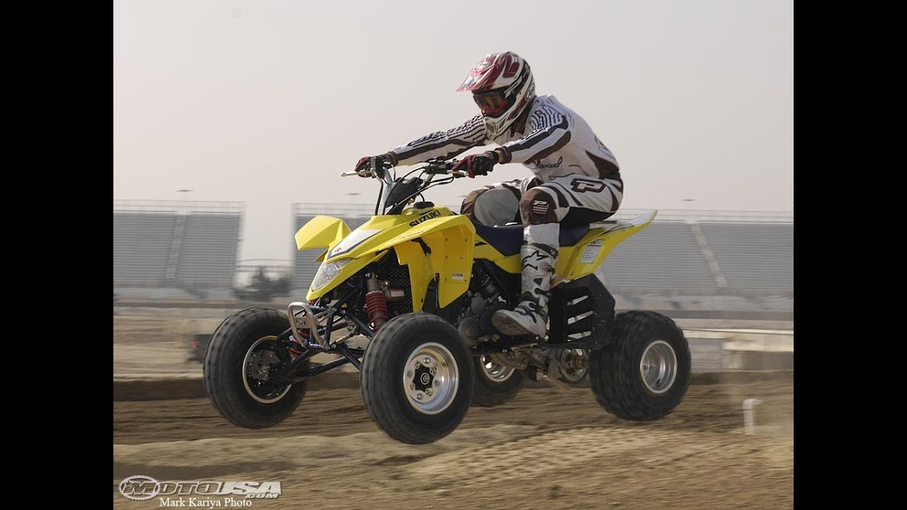 2008 suzuki quadracer lt r450 first ride motousa [ 1280 x 720 Pixel ]