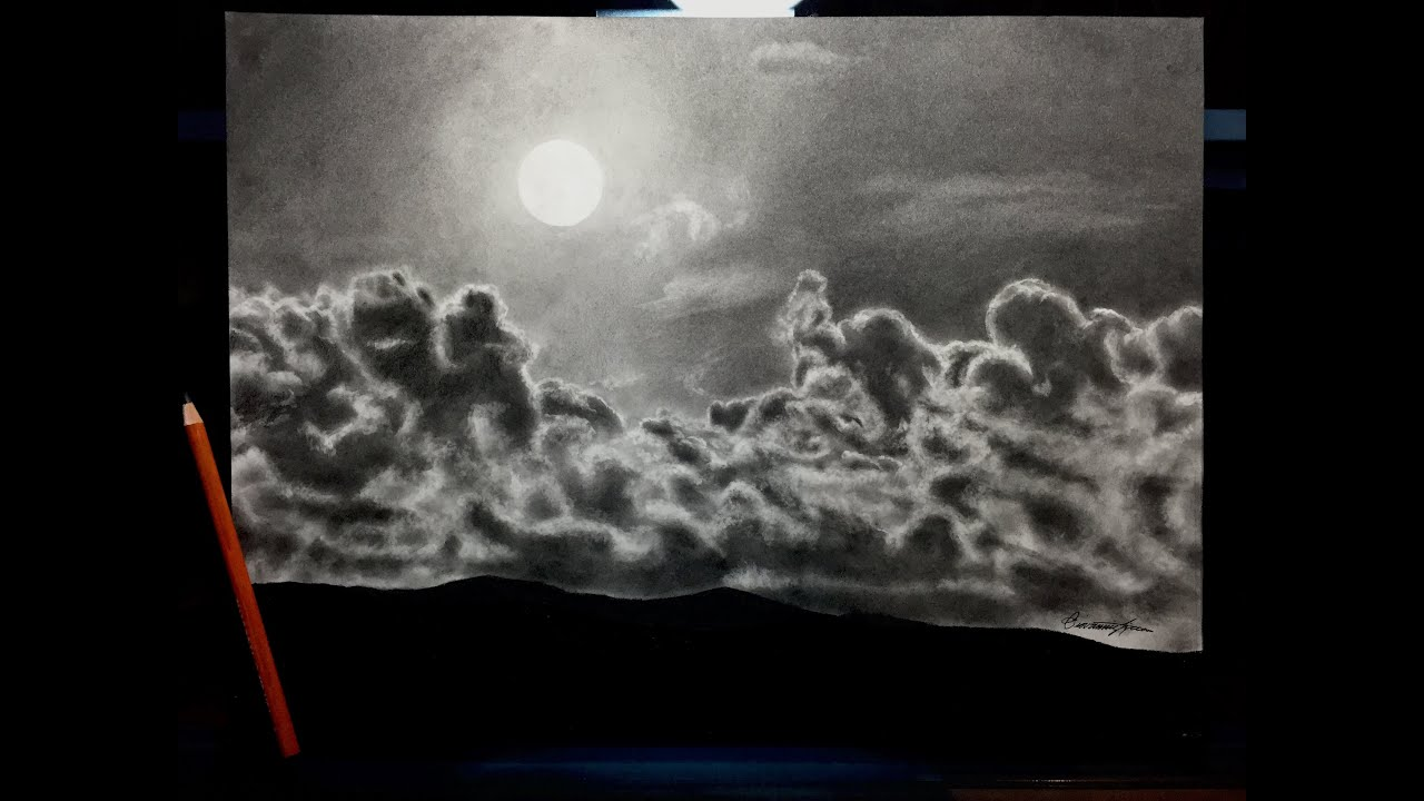 How To Draw Clouds Sky With Pencil Very Easy Drawing Tips