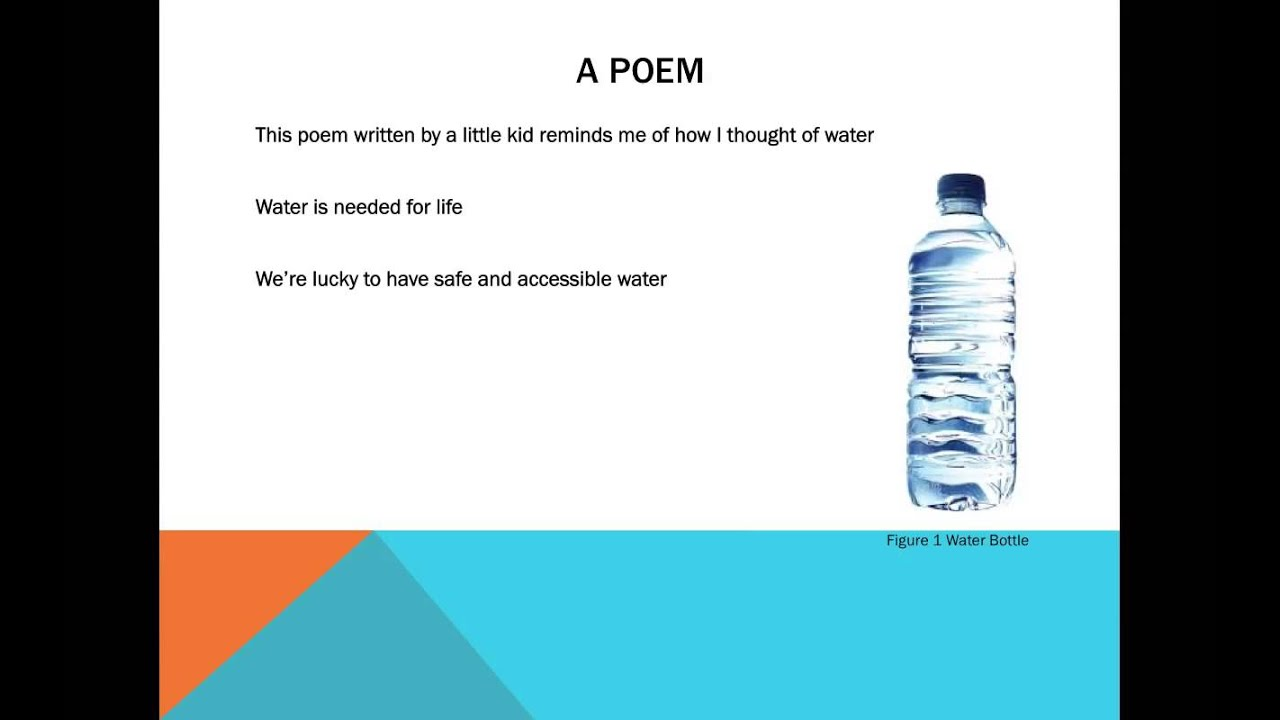 WATER POEM - YouTube