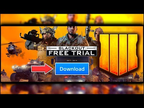 HOW TO DOWNLOAD BLACKOUT BO4 *FREE* TRIAL RIGHT NOW! | CALL OF DUTY BLACK OPS 4 FREE TRIAL thumbnail