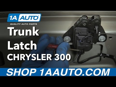 How to Replace Trunk Latch 05-07 Chrysler 300
