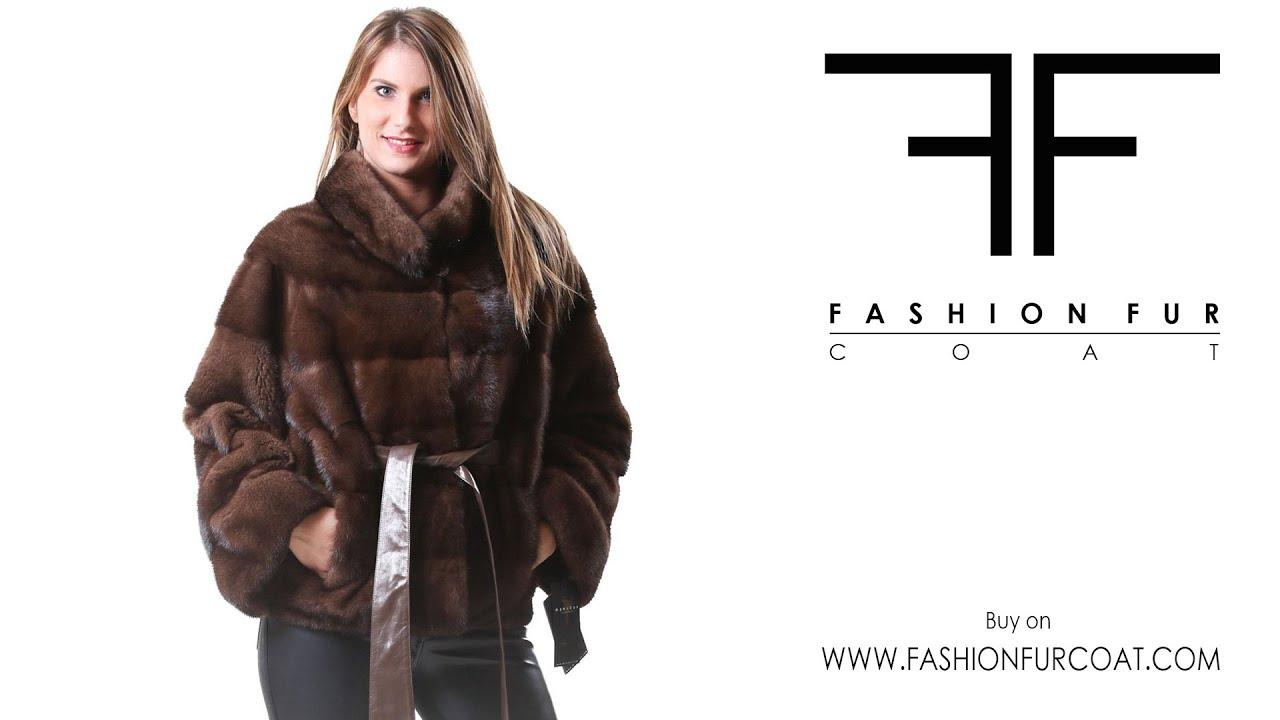 00176040 pelliccia visone giacca donna modello kimono for Zalando pellicce