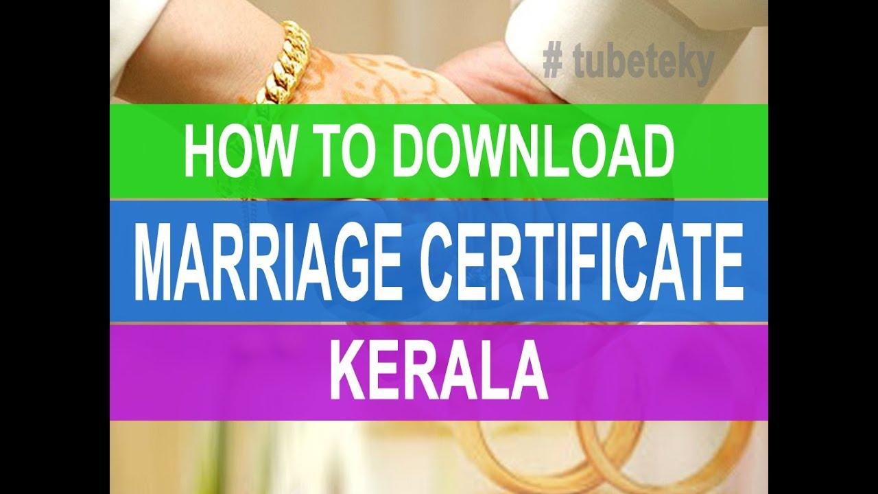 How to get marriage certificate online kerala video youtube how to get marriage certificate online kerala video xflitez Image collections