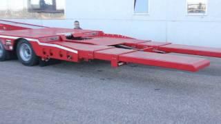 ROJO TRAILER góndola plana de rescate y porta.vehículos