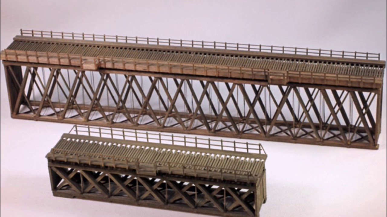 Building A Hunterline 86 Howe Truss Deck Wood Bridge Kit