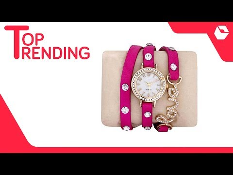 Pink Watch For Women With Love Buckle   Best Selling Watches