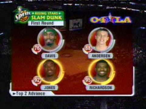 2004 NBA All Star Slam Dunk Contest Jason Richardson