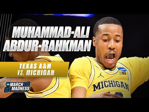 Michigan's Muhammad-Ali Abdur-Rahkman does it all in the Wolverine's Sweet 16 victory