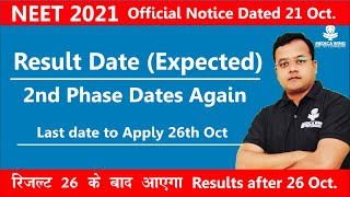 NEET 2021 result date (Delayed) Official notification for NEET 2nd phase & NEET Correction Last date