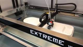 The Builder Extreme 1500 printing a huge prototype in full support