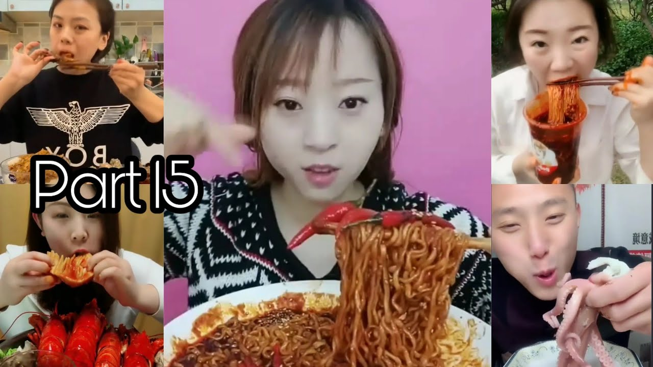 Super Spicy Food Eating Challenge-Chinese Food #ASMR #MUKBANG Part15