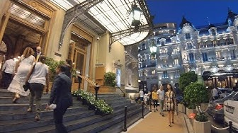 Walking Monaco's CASINO SQUARE at Night - Glitz & Glamour!