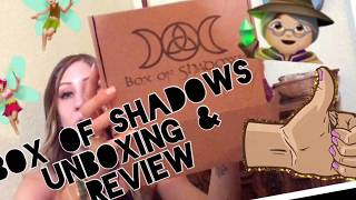 Box of shadows unboxing and review! 🧚🏼‍♀️🦋🧙🏼‍♀️
