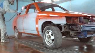 Покраска оранжевой десятки