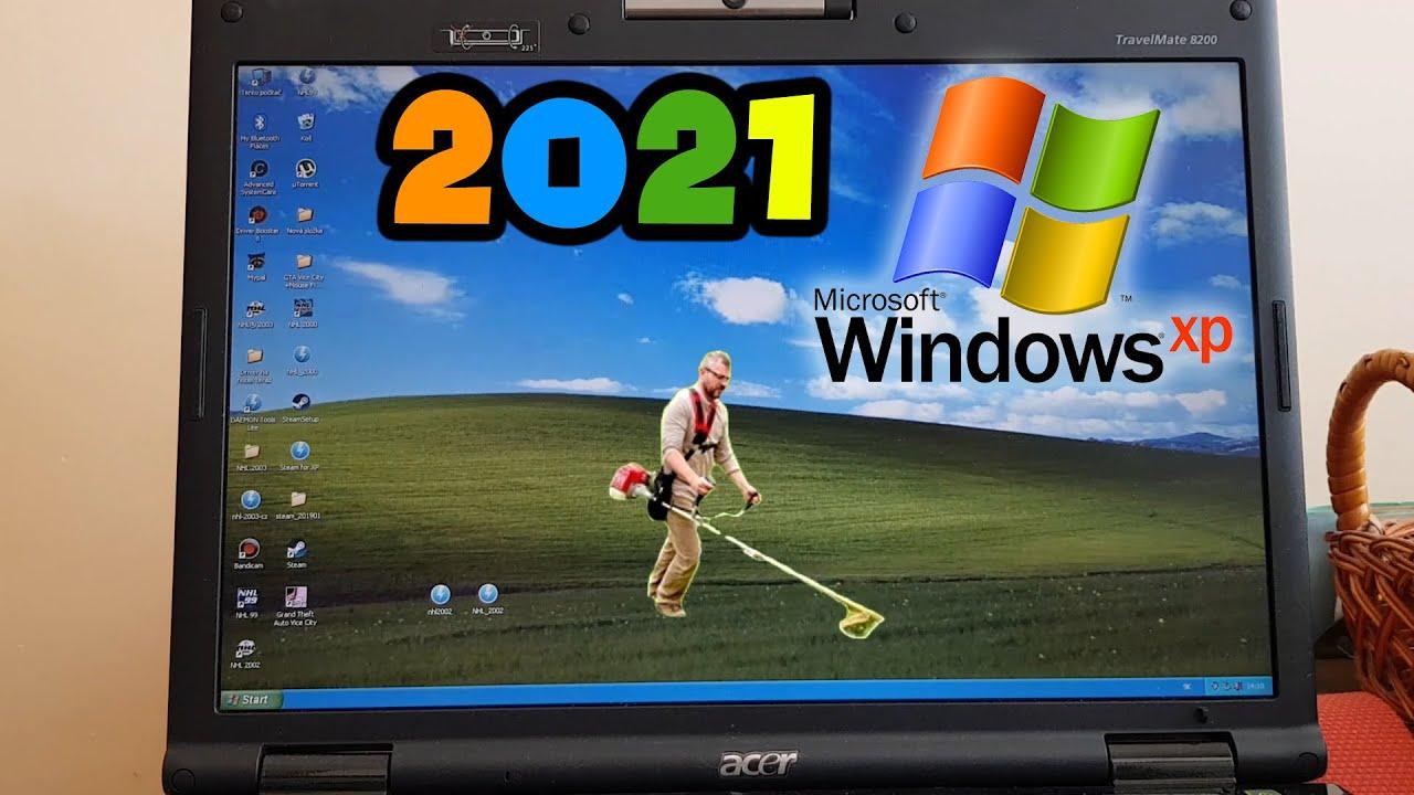 Windows XP v roku 2021! (Acer TravelMate 8202WLMi)