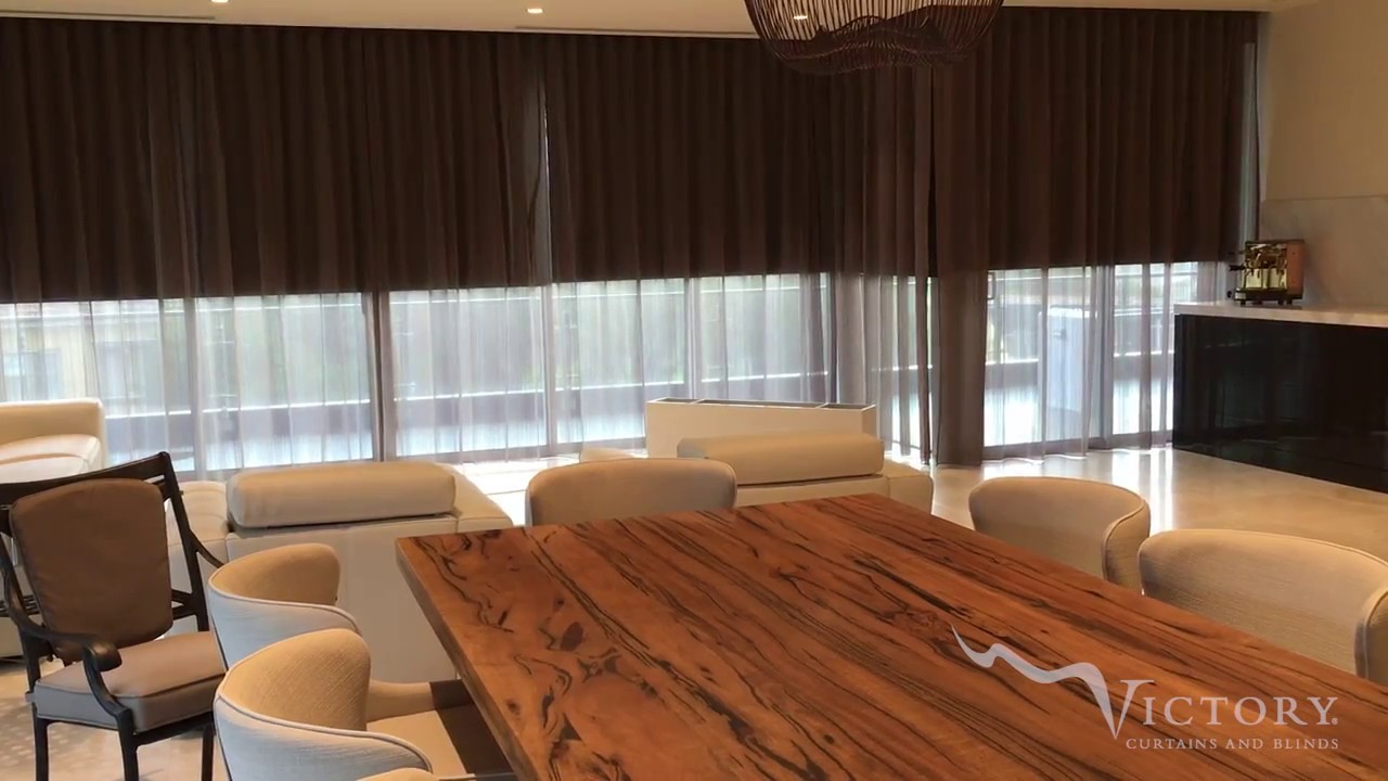 Motorised Sheer Curtains Roller Blinds Youtube