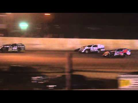 8-4-15 Rice Lake Speedway Modified Feature 8 laps to go Kevin Eder