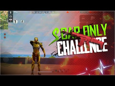 Use Only 1 Scar Gun Challenge - Garena Free Fire- Total Gaming