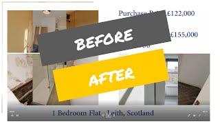 Before / After - 1 bed - BRRR - Leith, Edinburgh, Scotland