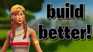 Fortnite mobile INTERMEDIATE BUILDING TECHNIQUES!