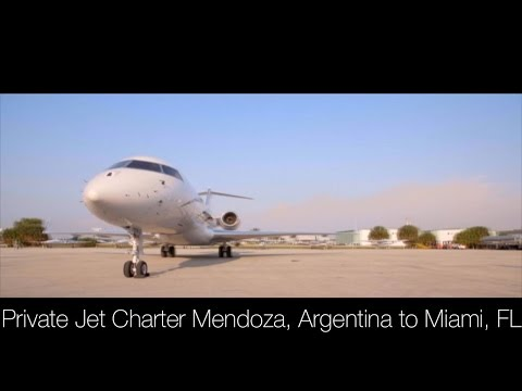 Private Jet Charter Mendoza, Argentina to Miami, FL, USA