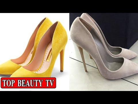 Suede heels, high heels for women