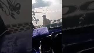 Brave kashmiri driver with police
