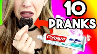10 EASY PRANKS TO PULL ON FRIENDS + FAMILY!