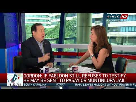 Faeldon could go to jail over Senate snub: Gordon