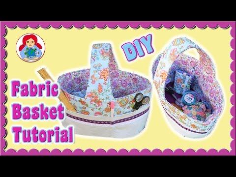 DIY | Fabric Basket + FREE Pattern!!! • Sami Doll Tutorials