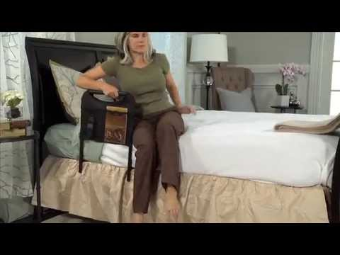 bedside safety handle and pouch bed rails for elderly youtube